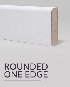 Rounded one edge